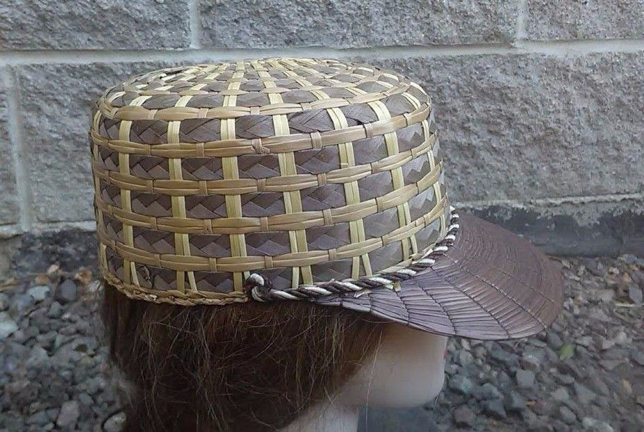 Yeddo hat woven with other materials, another side view Courtesy Ebay seller