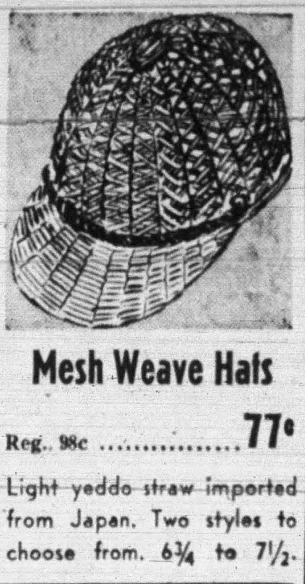 Yeddo hat, The Straw Shop