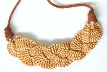 straw jewelry, Alec Coker, straw fashion