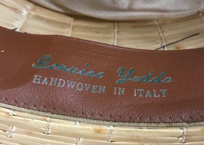 Italian Yeddo Boater, Straw boater, Yeddo, Yeddo boater, The Straw Shop