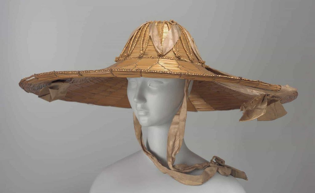 tied straw hat, yeddo, knotted hat,