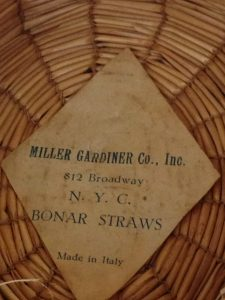 Miller Gardiner Co New York, yeddo ladies hat, yeddo hat, italian yeddo, italian straw hat
